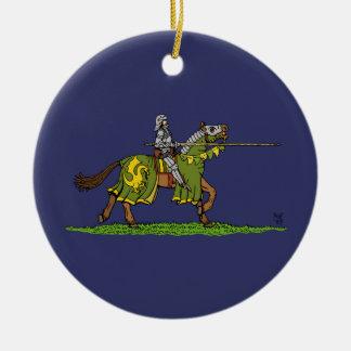 Ornamento de carga del caballero ornamentos para reyes magos