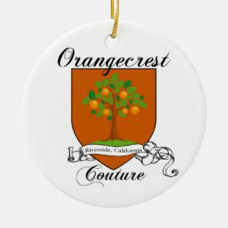 Ornamento de cerámica 2011 del escudo de las adorno navideño redondo de cerámica