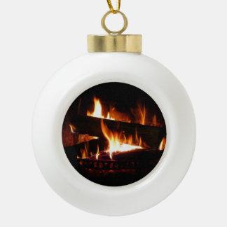Ornamento de cerámica de la bola de la chimenea adorno de cerámica en forma de bola