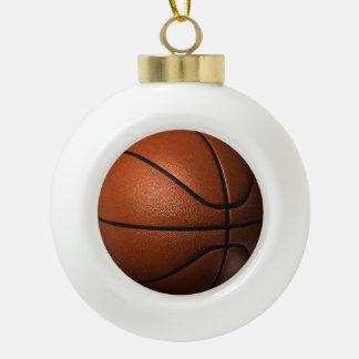 Ornamento de cerámica de la bola del baloncesto adorno de cerámica en forma de bola