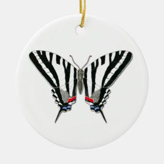 Ornamento de cerámica de la mariposa de adorno navideño redondo de cerámica