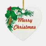 Ornamento de cerámica de las Felices Navidad Ornamentos De Reyes Magos