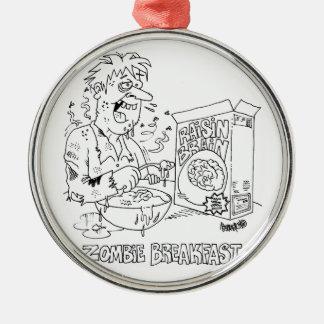 ornamento de cerámica de los dibujos animados del adorno navideño redondo de metal