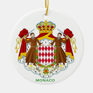 Ornamento de cerámica de MONACO* Adorno Navideño Redondo De Cerámica