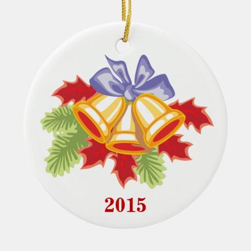 Ornamento de cerámica del año de encargo del adorno redondo de cerámica