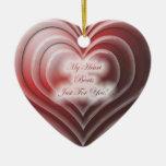 Ornamento de cerámica del corazón del amor adornos