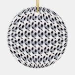 Ornamento de cerámica del mundo del balón de ornamento de navidad