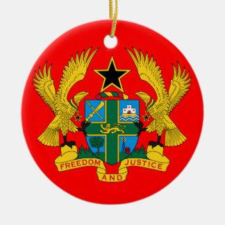 Ornamento de cerámica del navidad de GHANA* Adorno Redondo De Cerámica