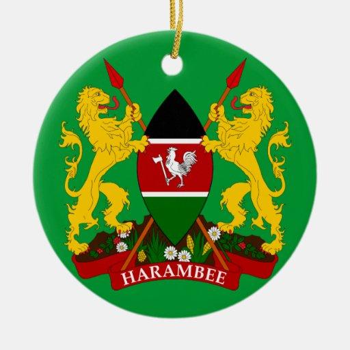 Ornamento de cerámica del navidad de KENIA Ornamento Para Arbol De Navidad