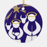 Ornamento de cerámica del navidad de la escena de  adorno de navidad