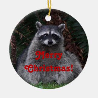 Ornamento de cerámica del navidad de la foto del adorno navideño redondo de cerámica
