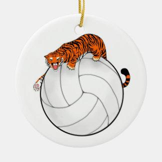 Ornamento de cerámica del navidad del voleibol del adorno navideño redondo de cerámica