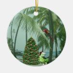 Ornamento de cerámica del navidad hawaiano ornaments para arbol de navidad