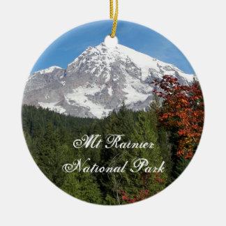 Ornamento de cerámica del parque nacional del adorno redondo de cerámica