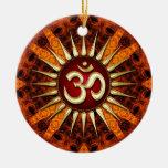 Ornamento de cerámica energía orgánica de oro de O Ornamento De Navidad