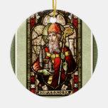 Ornamento de cerámica redondo del trébol de St Adorno Navideño Redondo De Cerámica