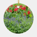 Ornamento de cerámica redondo personalizado de la adorno navideño redondo de cerámica