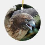 Ornamento de cerámica Rojo-Atado del halcón Ornamentos Para Reyes Magos
