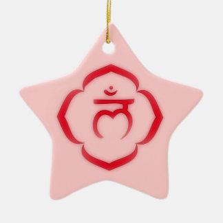 Ornamento de Chakra de la raíz Adorno De Cerámica En Forma De Estrella