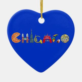 Ornamento de Chicago Adorno De Cerámica En Forma De Corazón