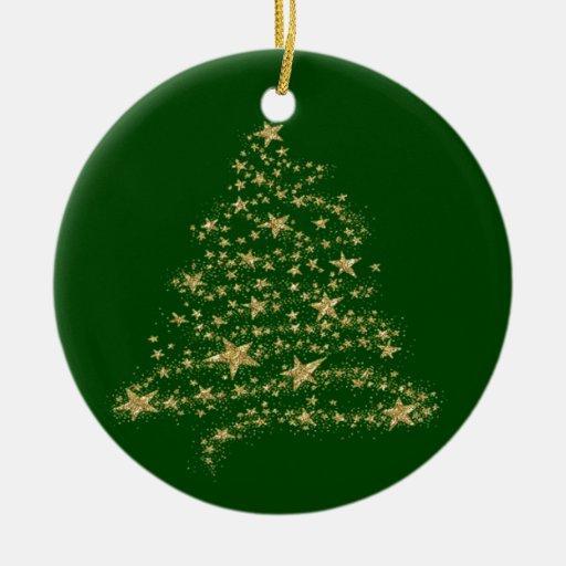 Ornamento de ChristmasTree del oro Adornos De Navidad