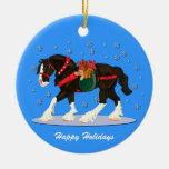Ornamento de Clydesdale del navidad Adorno De Navidad