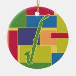 Ornamento de Colorblocks del Clarinet del alto Ornamentos De Reyes Magos