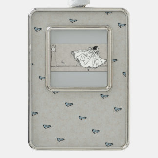 Ornamento de cristal de Cenicienta del vintage del Adornos Con Foto
