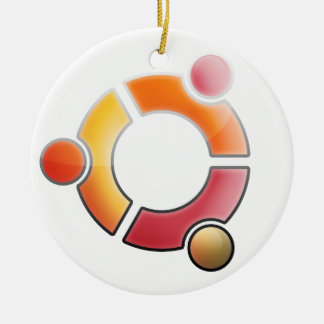 Ornamento de cristal de Ubuntu Adorno Navideño Redondo De Cerámica