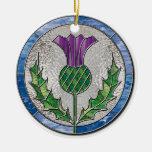 Ornamento de cristal del cardo adorno