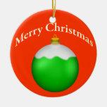 Ornamento de cristal del globo del navidad verde ornamentos de reyes magos