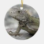 Ornamento de cuernos de la iguana adornos de navidad