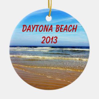 Ornamento de Daytona Beach Adorno Redondo De Cerámica