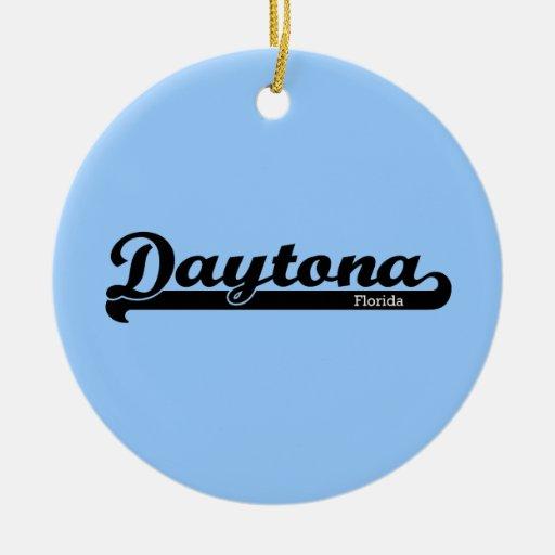 Ornamento de Daytona del deporte Adorno Navideño Redondo De Cerámica