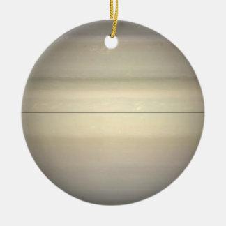 Ornamento de doble cara de Saturn Adorno Navideño Redondo De Cerámica