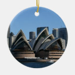 Ornamento de doble cara de Sydney Adorno Navideño Redondo De Cerámica