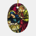 Ornamento de doble cara del navidad de la nativida ornamentos para reyes magos