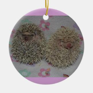 Ornamento de dos bebés ornamentos para reyes magos