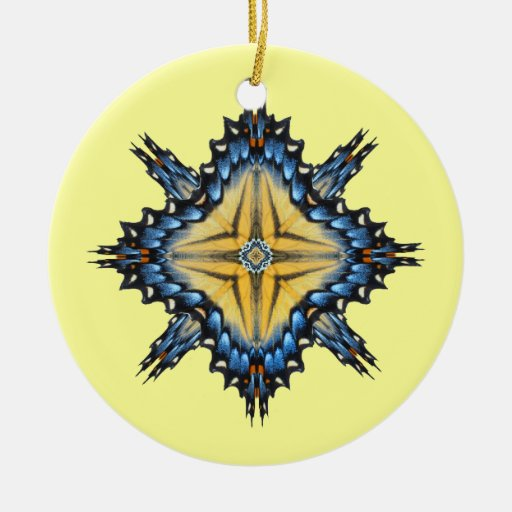 Ornamento de Dreamcatcher de la mariposa Adorno Navideño Redondo De Cerámica