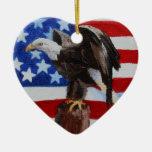 Ornamento de Eagle de la libertad Ornamentos Para Reyes Magos