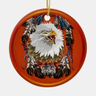 Ornamento de Eagle Dreamcatcher Adorno