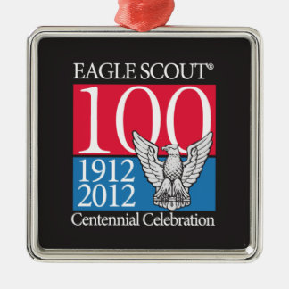 Ornamento de Eagle Scout Adorno Cuadrado Plateado