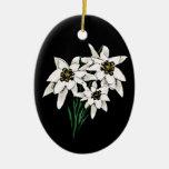 Ornamento de Edelweiss Adorno De Navidad