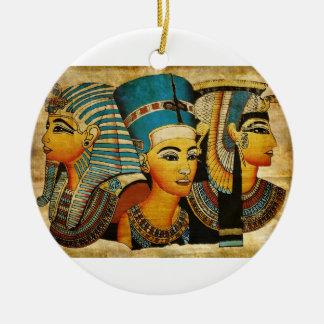 Ornamento de Egipto antiguo 3 Adorno Navideño Redondo De Cerámica
