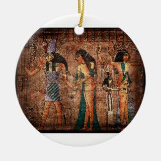 Ornamento de Egipto antiguo 4 Adornos De Navidad
