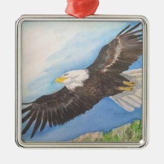 Ornamento de elevación de Eagle Adorno Navideño Cuadrado De Metal