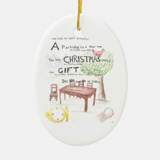Ornamento de encargo 2010 del árbol del juego de l adornos de navidad