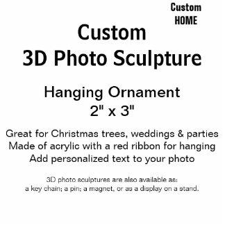 """Ornamento de encargo 2"""" de la escultura de la foto adorno fotoescultura"""