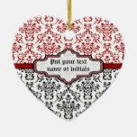 Ornamento de encargo blanco rojo del negro del ornatos