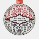 Ornamento de encargo blanco rojo del negro del ornamente de reyes